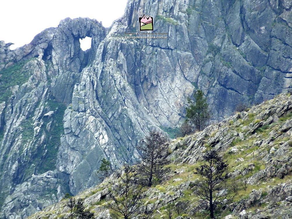 El hueco o ventana en la Sierra de la Ventana