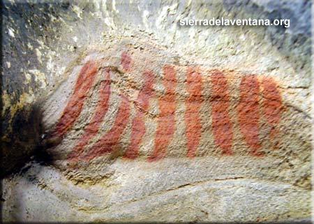 Pinturas rupestres en la Reserva Natural del Parque Tornquist