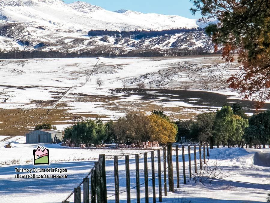Nevadas en Villa Ventana