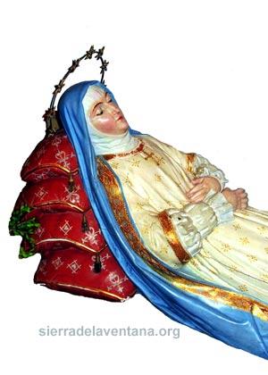 Virgen Nuestra señora del tránsito o dormida en Saldungaray