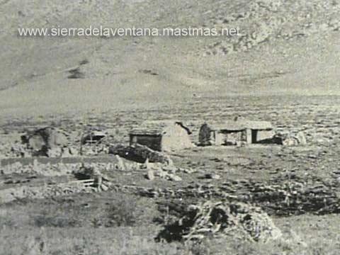 Antiguas casas de piedra en Sierra de la Ventana