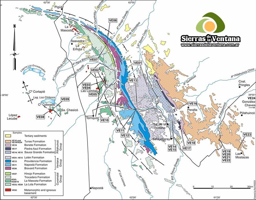 Formaciones Geológicas de Sierra de la Ventana