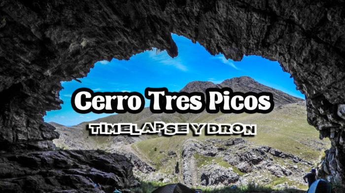 Cerro Tres Picos desde nuestro drone