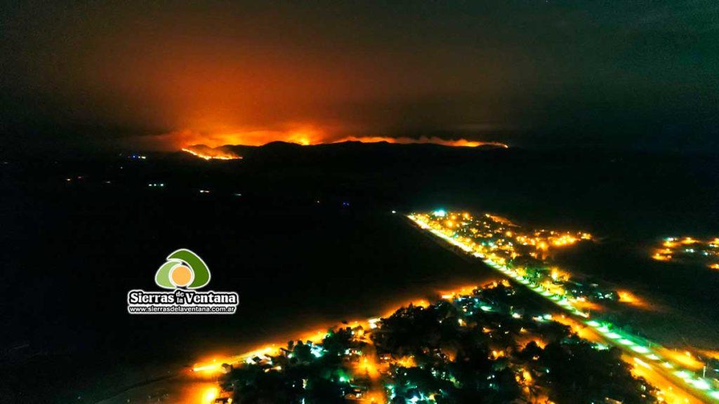 Incendio en Sierra de la Ventana