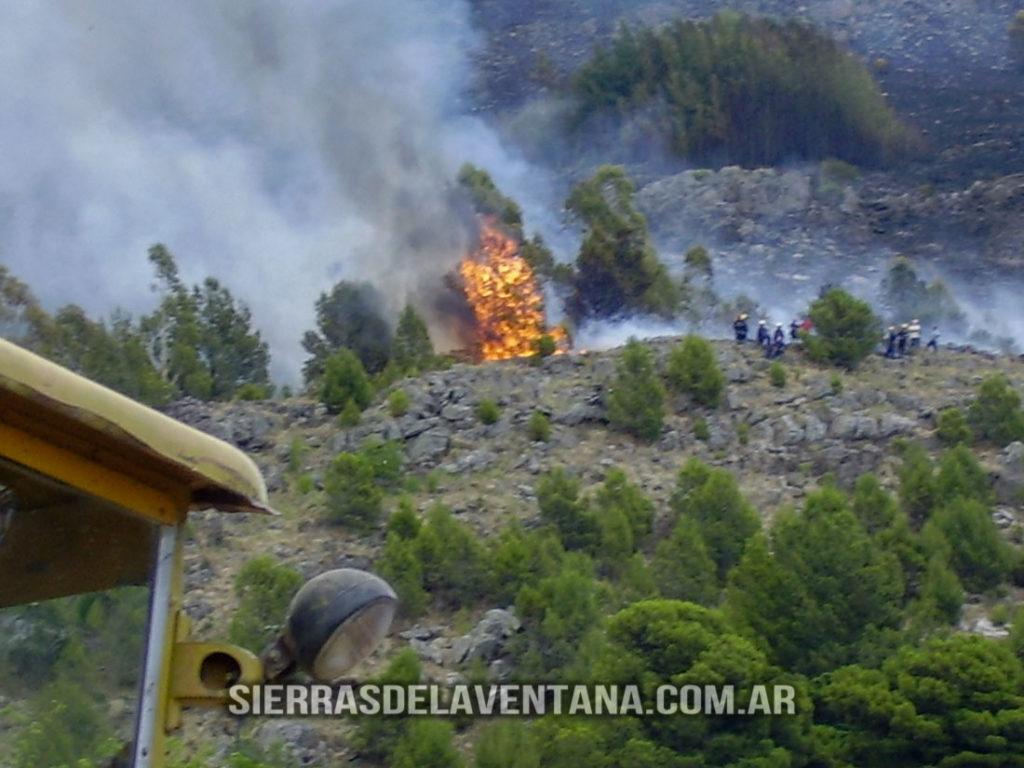 Incendio 2007 Sierra de la Ventana